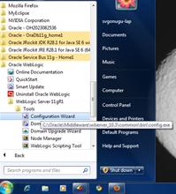 how to create weblogic domain in windows